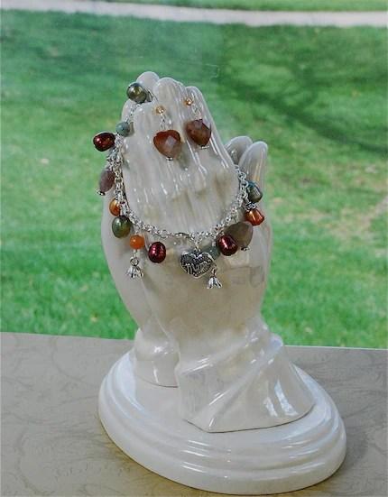 Mom Bracelet and Earrings SET by NewelryJewelry