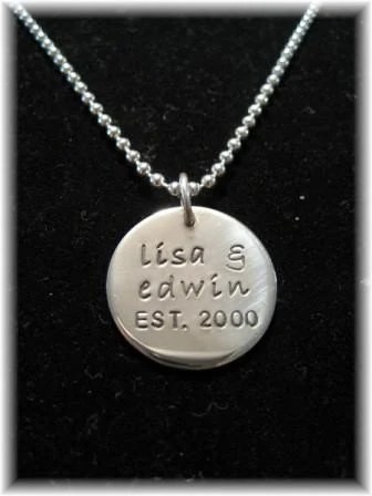 Anniversary or Mommy necklace