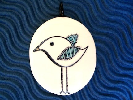 A Little Bird Told Me No. 2 Pendant - By BlossomArts