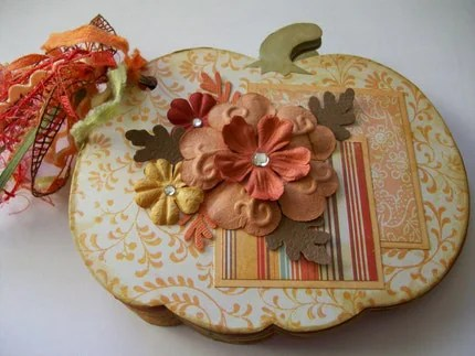 Keepsake Quality Mini Pumpkin Chipborad photo/ scrapbook Album