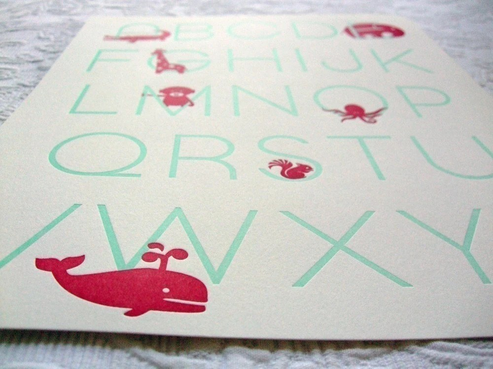 Letterpress Alphabet Poster by sycamorestreetpress