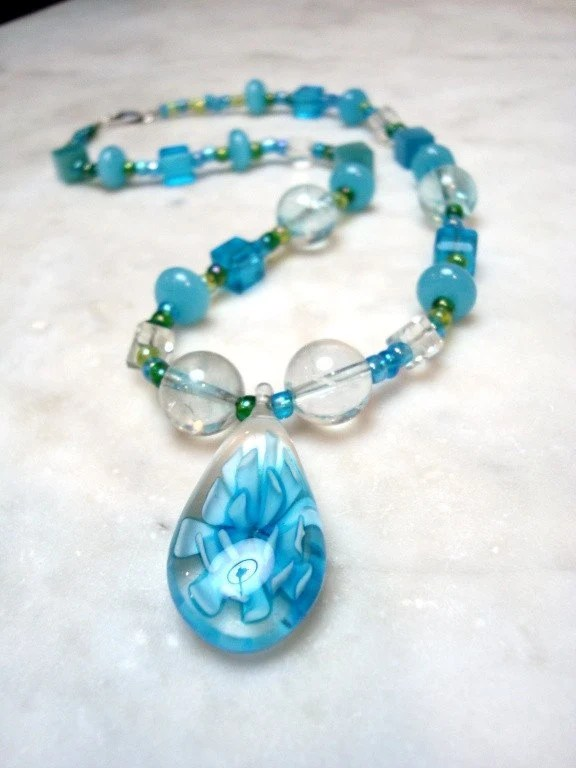 Come Sail Away... Caribbean Blues Necklace