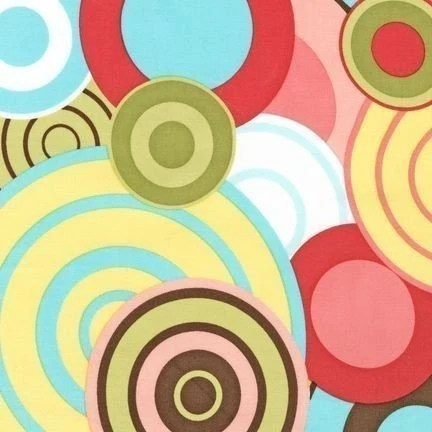 Robert Kaufman Another Iota Cocoa Circles Fabric - By the Yard