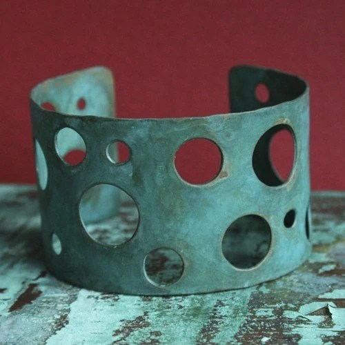Holey Cuff - Verdigris
