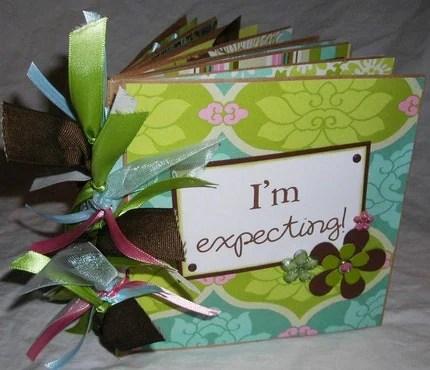 IM EXPECTING pregnancy PaPeR BaG premade scrapbook album