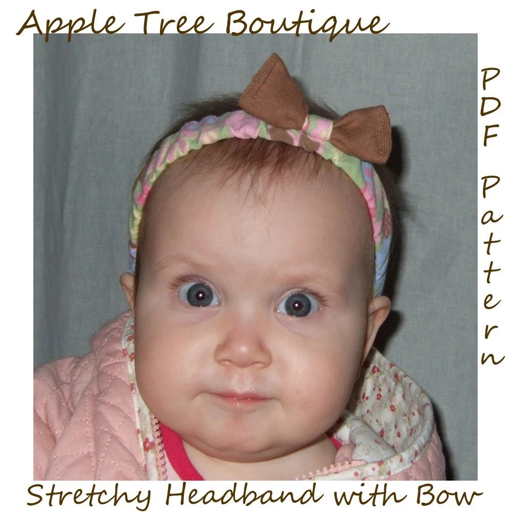 Stretchy Headband with Bow PDF Pattern Ebook