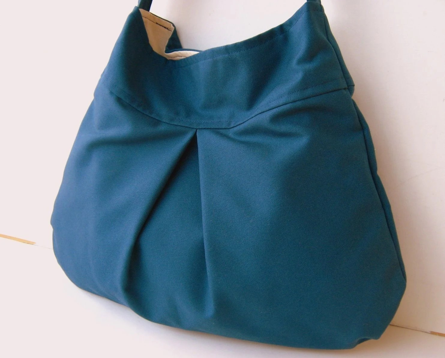 Steel Blue Canvas --everyday purse--