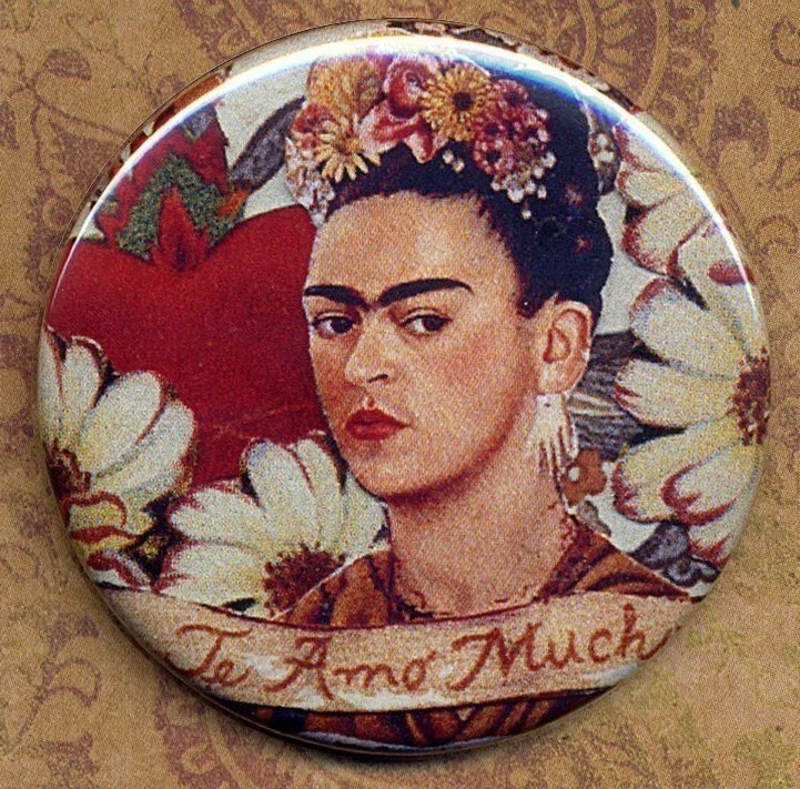 Frida Kahlo Te Amo  Pocket Mirror