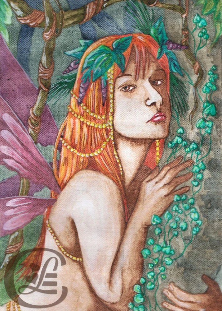 Faerie Of Earthly Delights - Original Painting By Lindsay Cheesewright