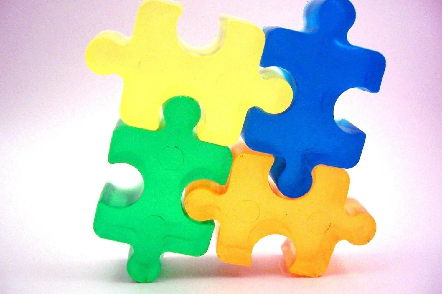 $2 from the sale of each Puzzle piece soap set is donated to Autism Speaks