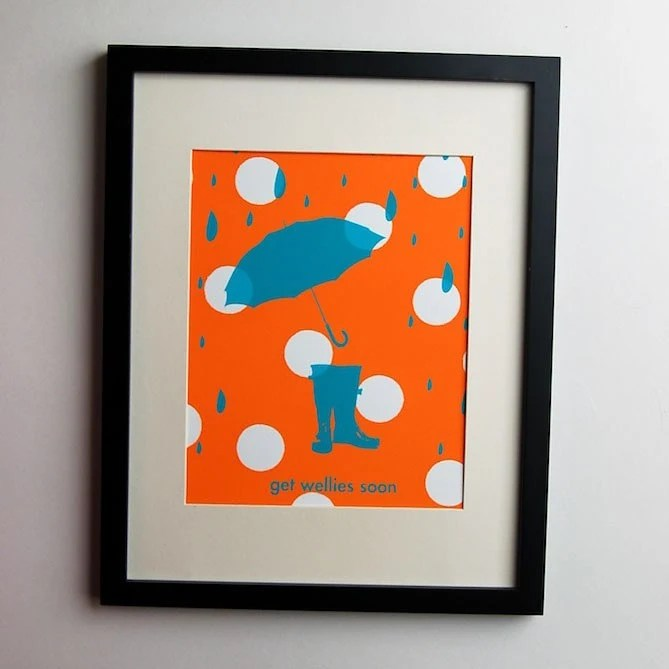 Get Wellies Soon...Limited Edition...Screen print poster