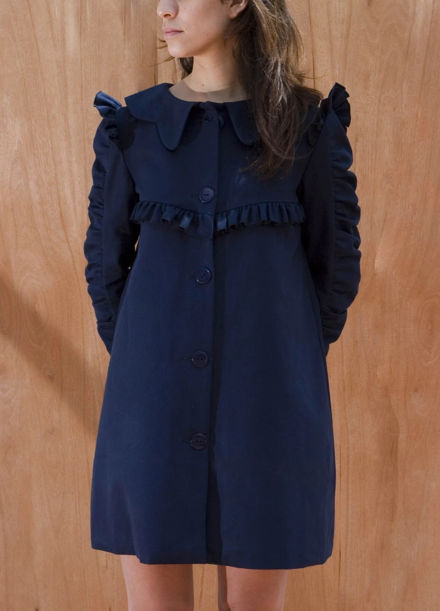 ROMANTIC 3/4 SLEEVES Lined COAT