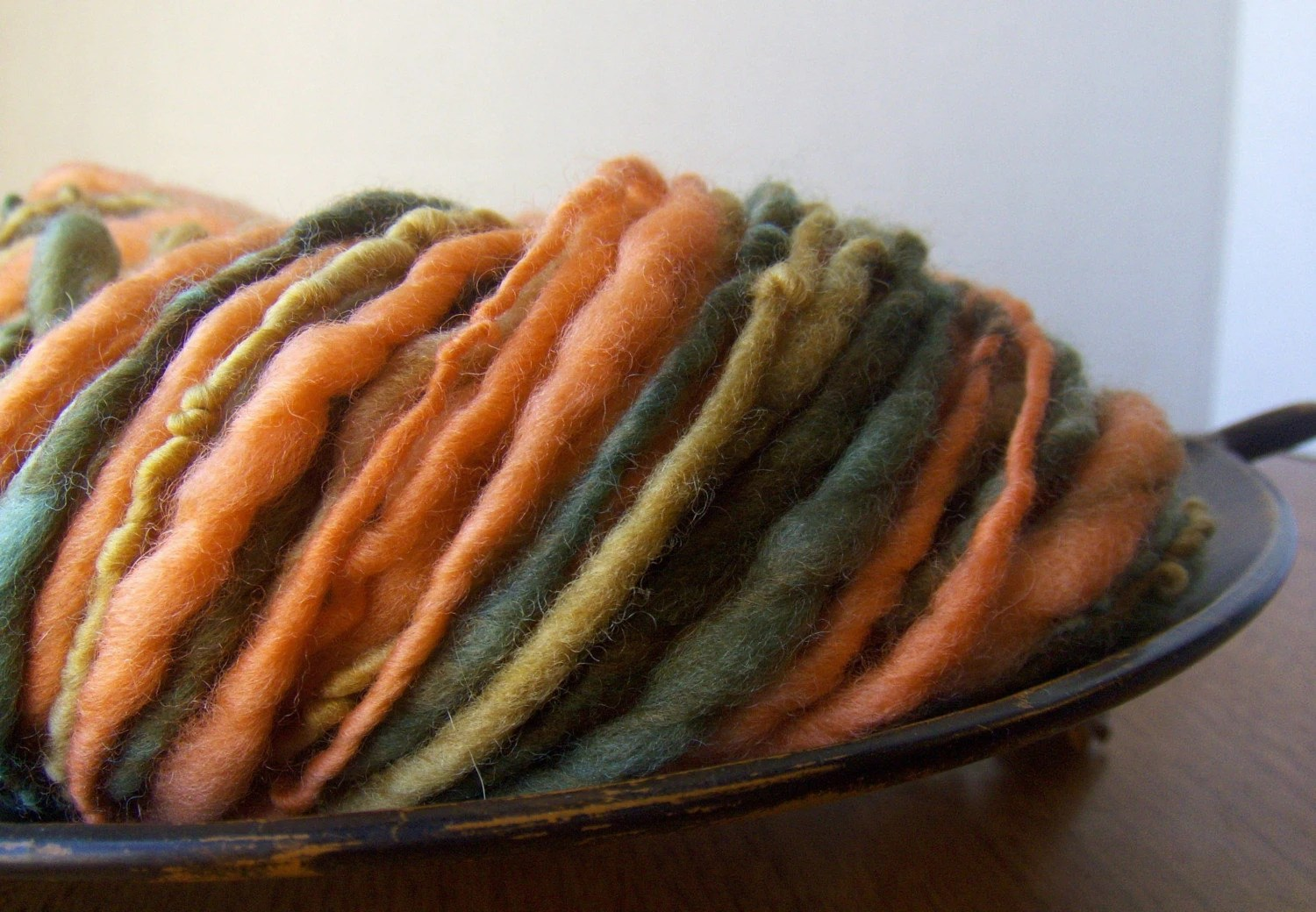 Autumn Leaves- 70 yards bulky Handspun Yarn