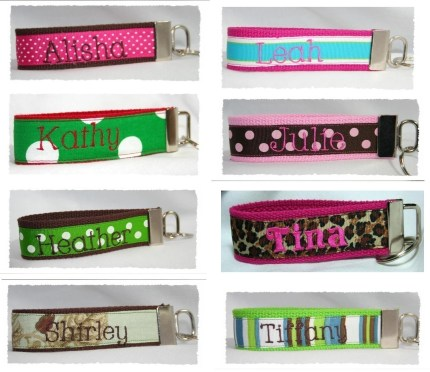 Design your own Wristlet Key Fob Personalized Monogrammed Custom
