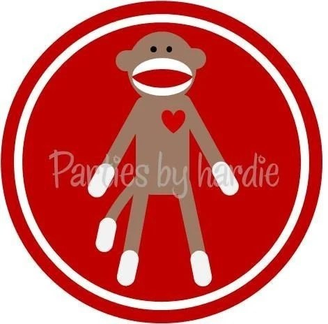 NEW Printable Sock Monkey mini Valentine Party