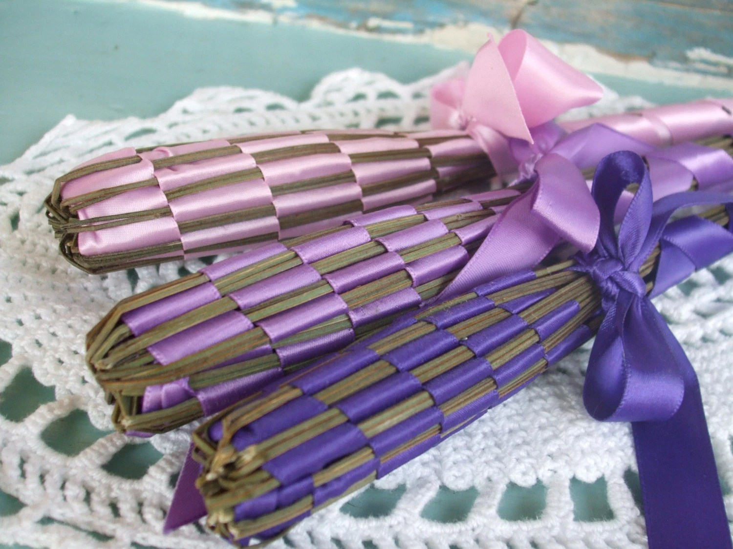 Lavender Wands Set of 3 Fragrant Homegrown and Handmade