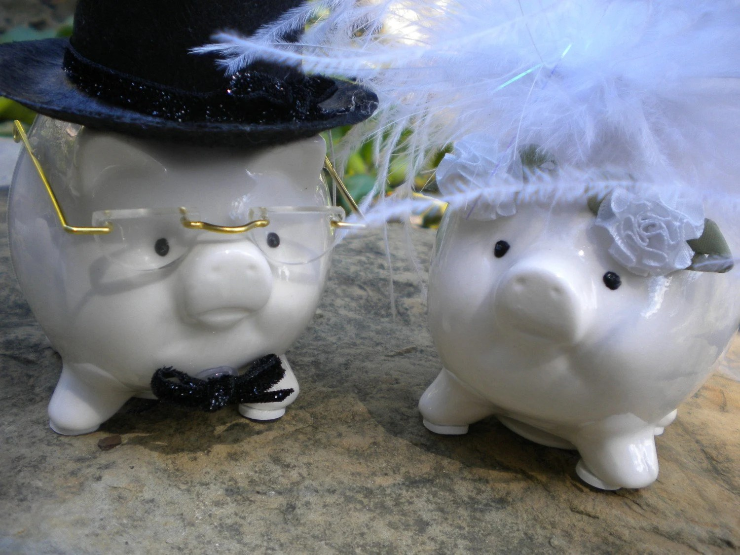 Bride and Groom piggy banks