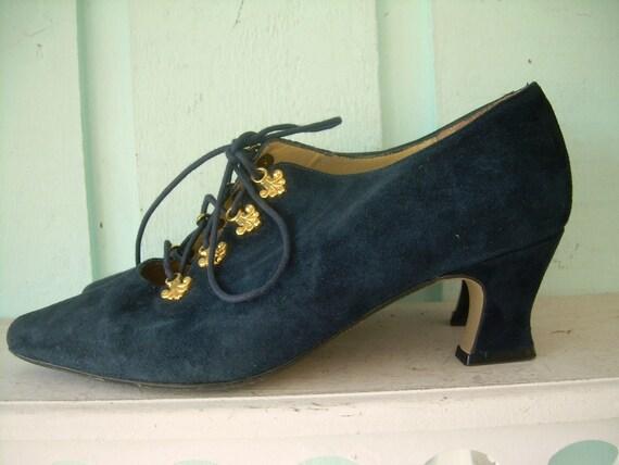 Navy Blue Corset Heels