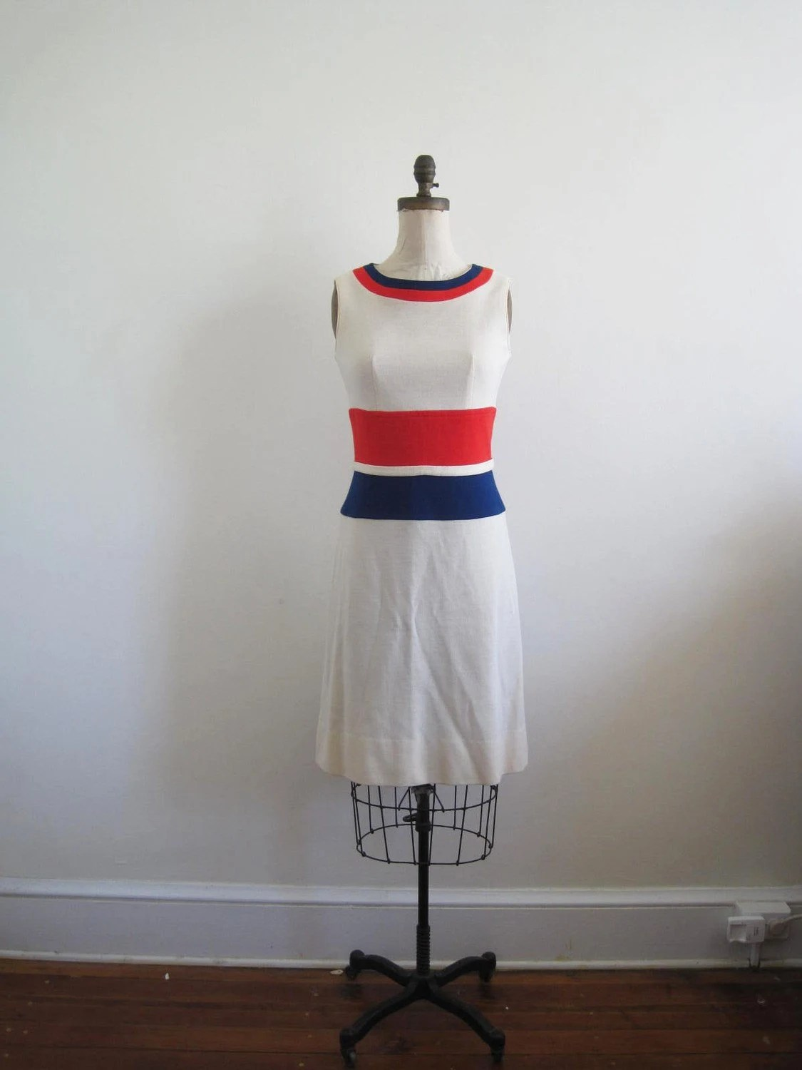 1960s Drapeau Français Dress