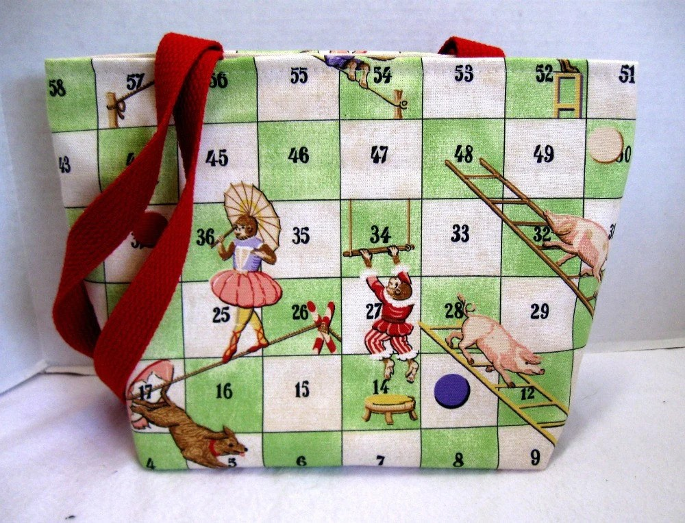 Game Purse/Tote Chutes and Ladders Medium Purse or Tote with Pockets