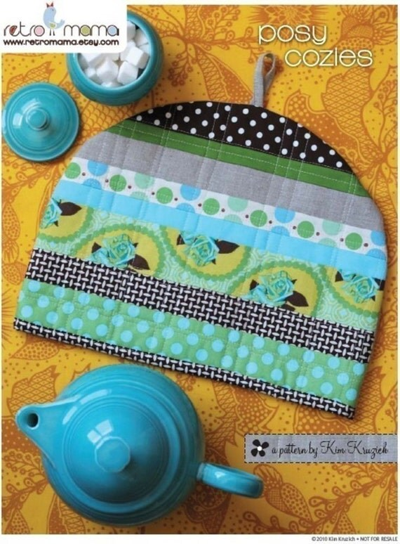 PDF Sewing Pattern - Posy Cozies Patchwork Tea Cozy