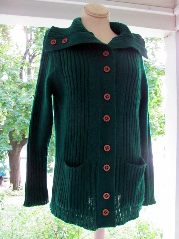 Cozy Green Cardigan