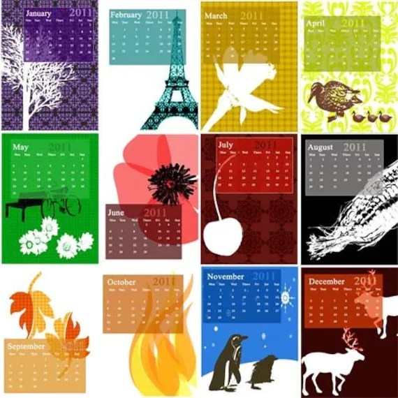 Desk Calendar REFILL (set of cards only)