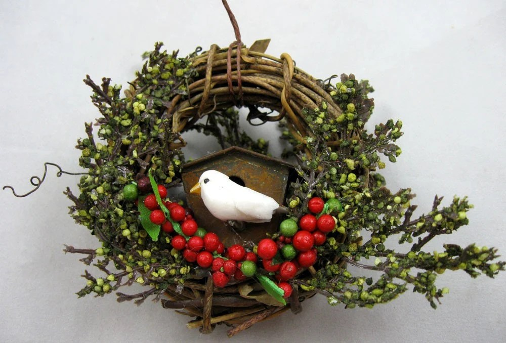 Rustic Birdhouse Ornament 210