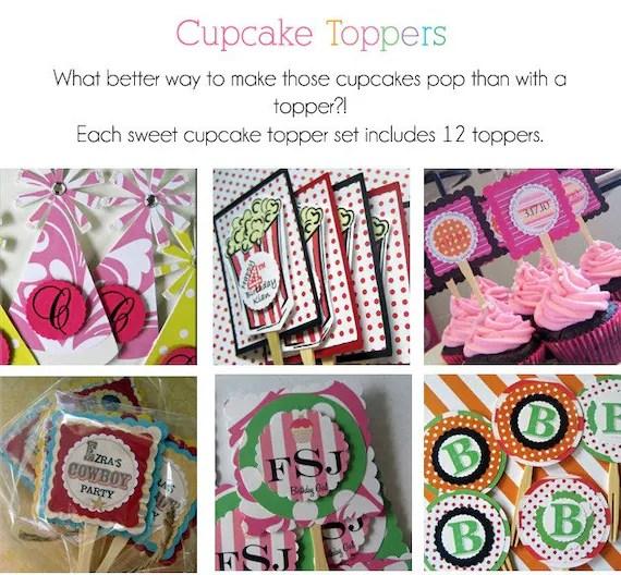 Cupcake Toppers (custom design)