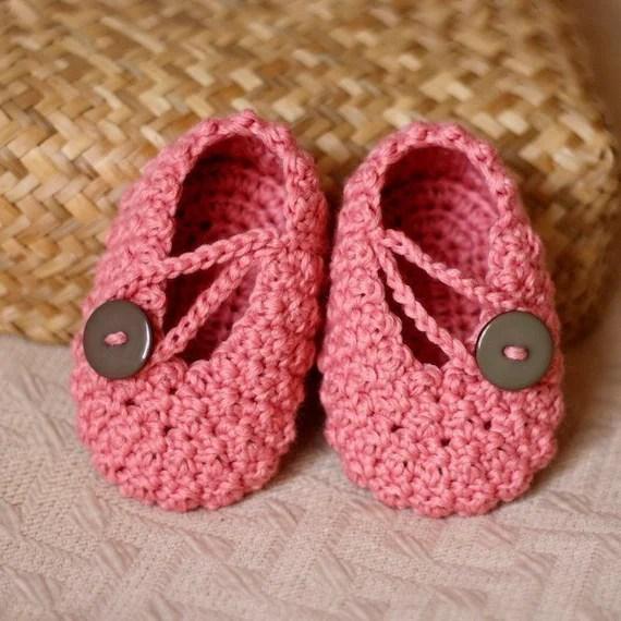 Crochet PATTERN (pdf file) - Pretty in Pink Baby Booties