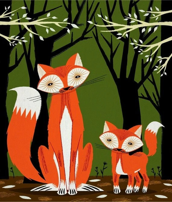 Two Fine Foxes - Limited Edition Print