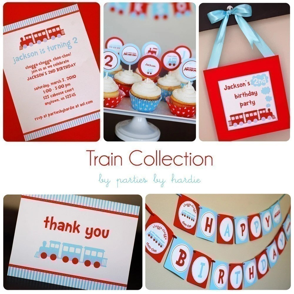 DIY Printable Train Collection-CUSTOMIZABLE