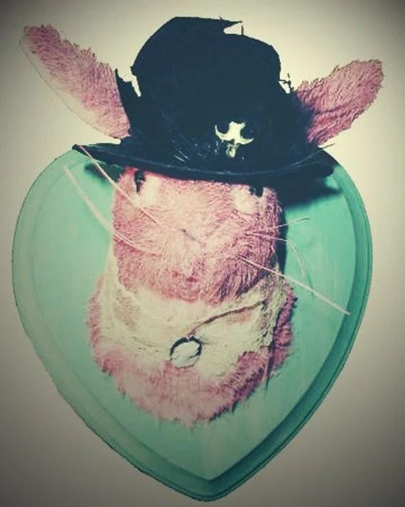 Faux taxidermy Victorian bunny