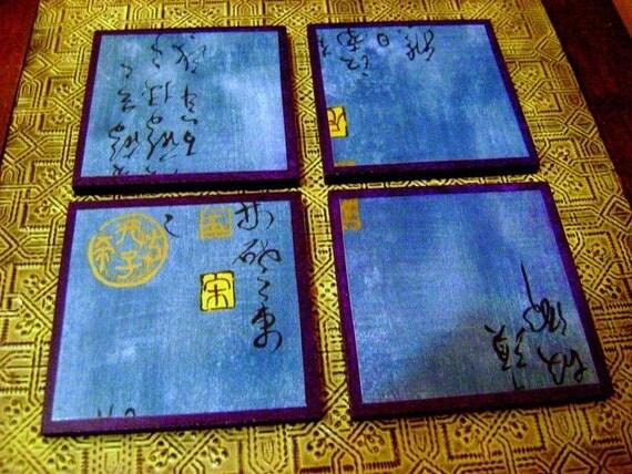 eco chic coasters - zen himalayan skies