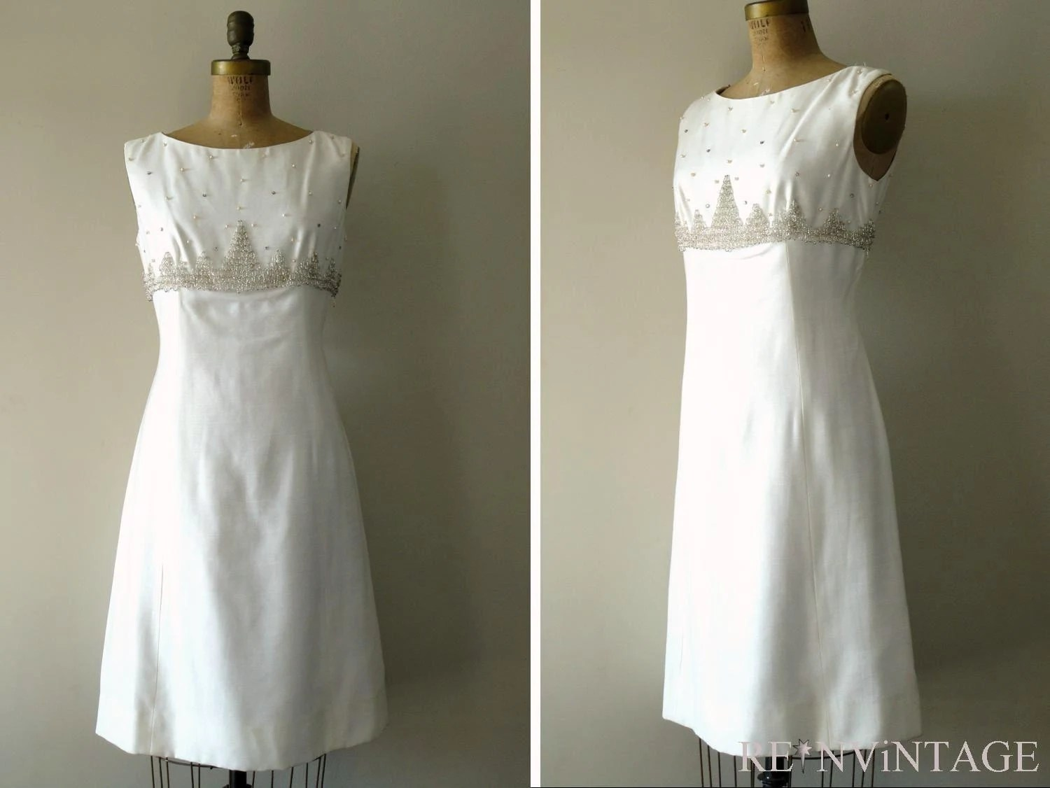 vintage 1950s FROSTED COTTON cocktail dress