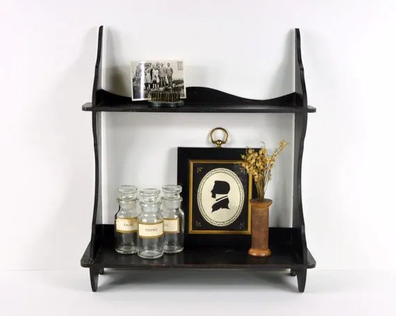 Vintage Black Wall Shelf