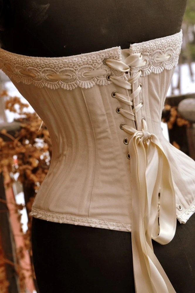 eco-concious  bridal corset natural cotton