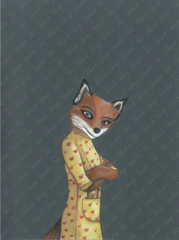 Fantastic Mr. Fox Mrs. Fox - Print
