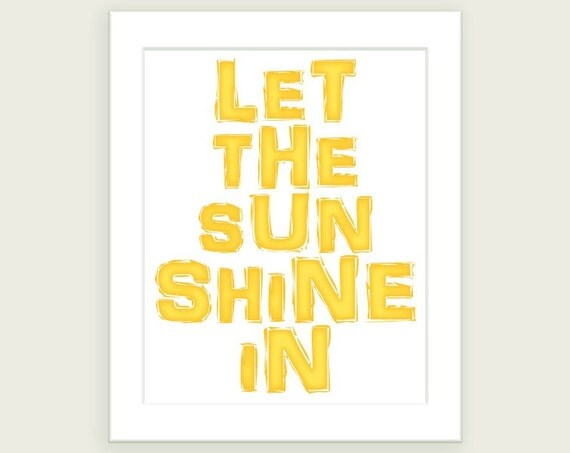 Let The Sunshine In - 8x10 Art Print in Sunny Yellow - by ColorBee
