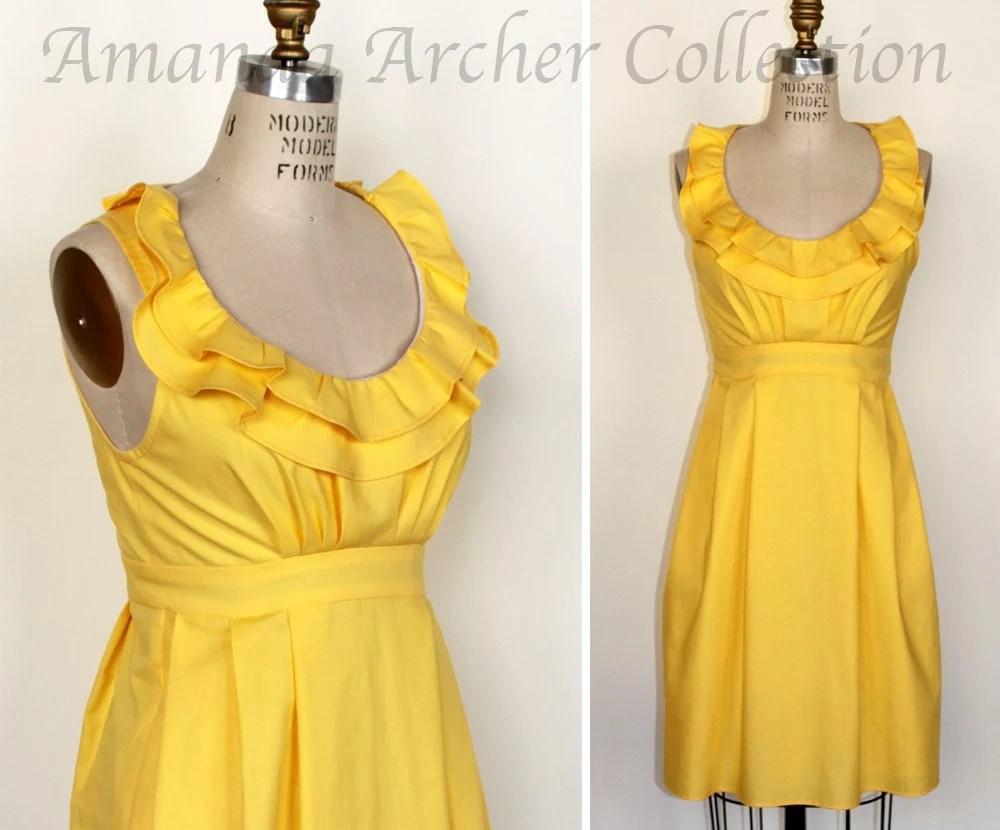 Ruffled Collar Dress