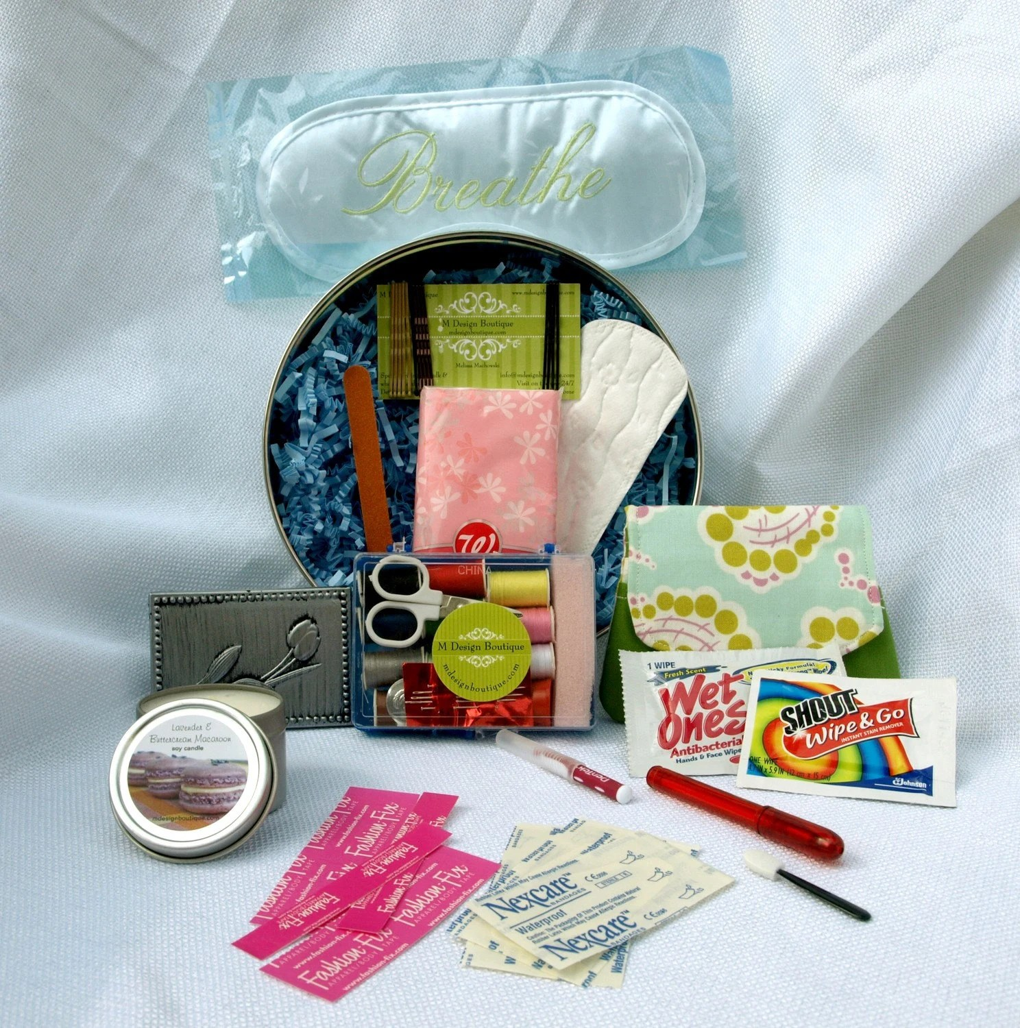 Wedding Day Bridal Survival Kit With Customizable Label