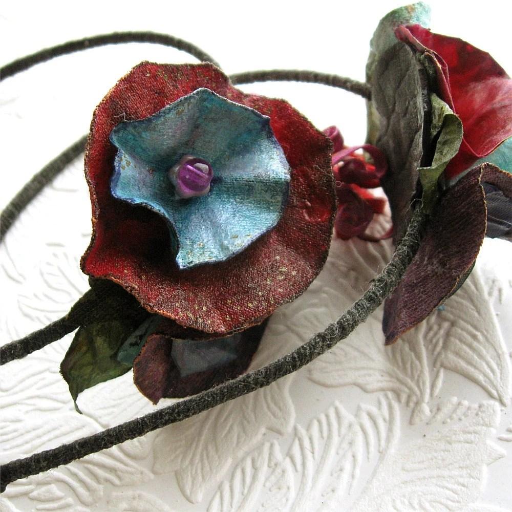 Mid Century Palette Floral Fascinator