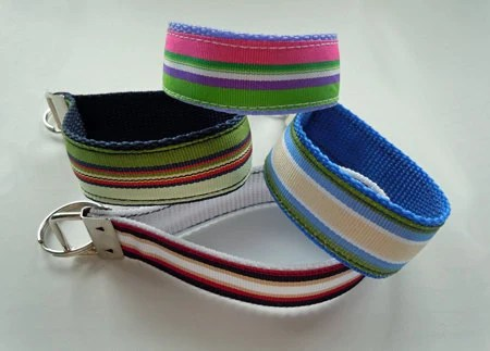 Preppy Stripes Key Fob Wristlet Makes A Great Gift Set Paired with any one of my Custom Pendants