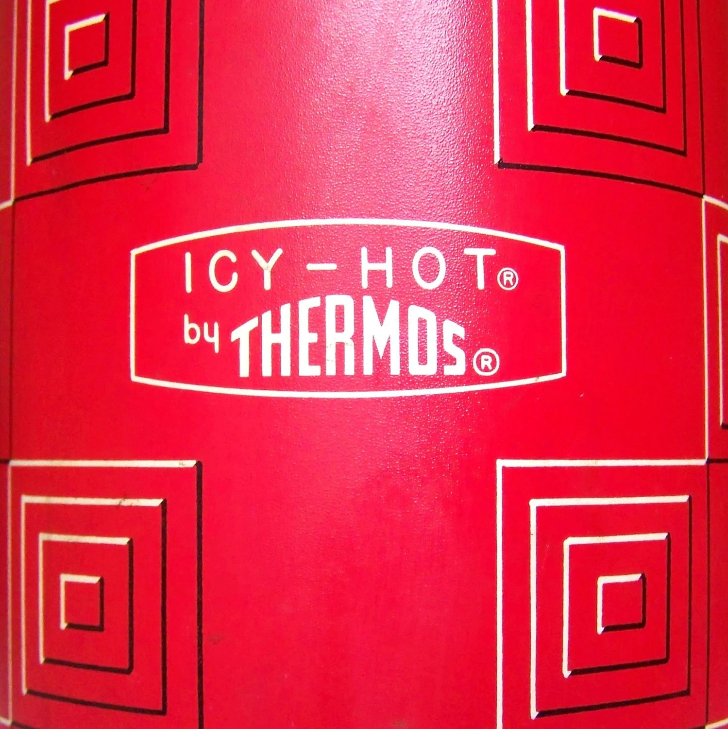 Icy Hot Thermos Metal Red Plaid