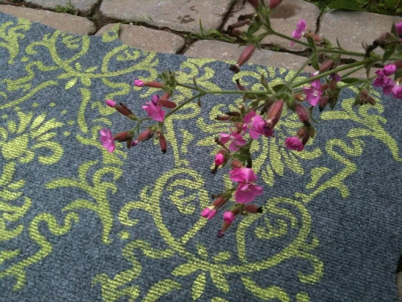 Hand Painted Damask Doormat