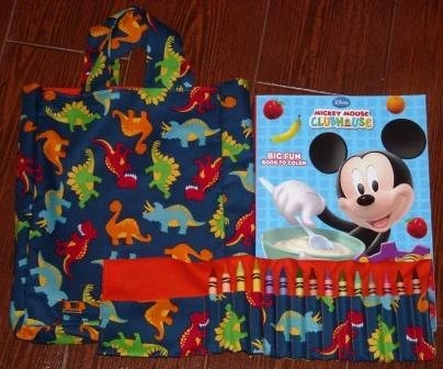 Dinosaur Crayon Roll Set - OOPS (crayon roll only holds 15 crayons)