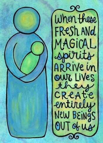 Fresh and Magical Spirits (5x7 doodle print)