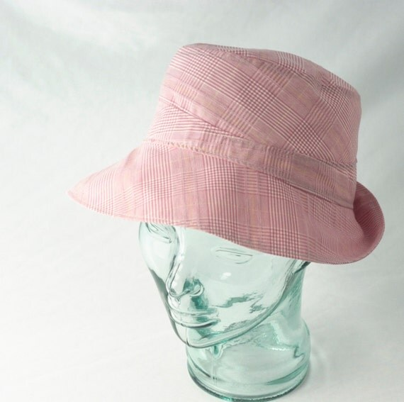 Nantucket Red and White Plaid Cotton Sunhat - L