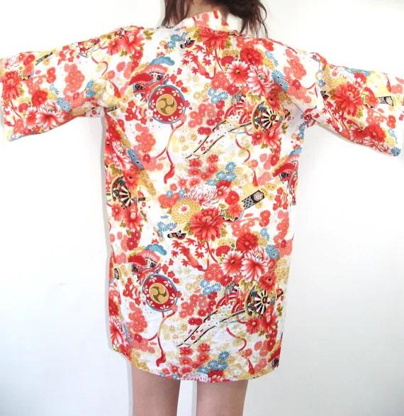 Vintage Asian Floral Kimono Jacket