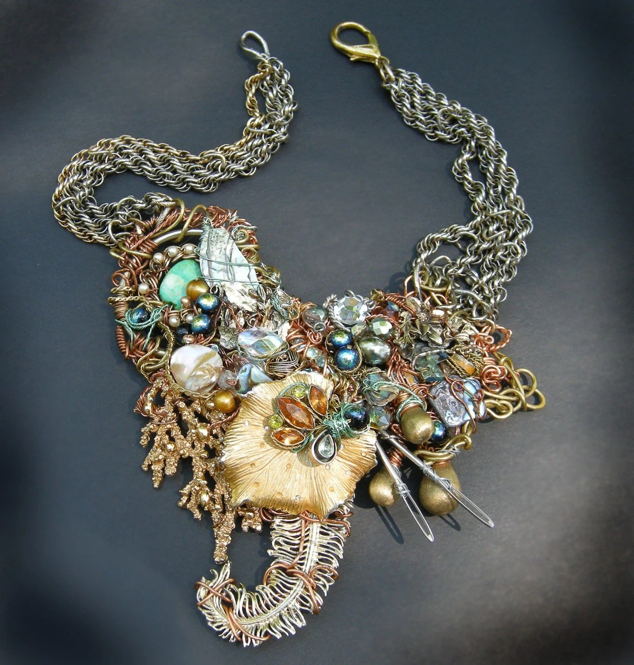 SALE Baroque  Cathedral Necklace